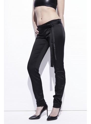 Pantalon satin - taille croisée