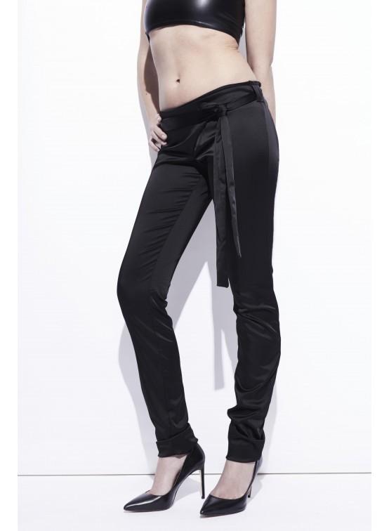 Pantalon satin - taille croisée d63b3f8766d2