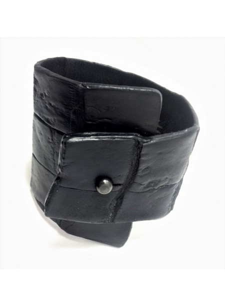 Bracelet crocodile 6.5-3cm - fermeture métal