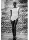Leggings modulable - jersey viscose ou enduit noir