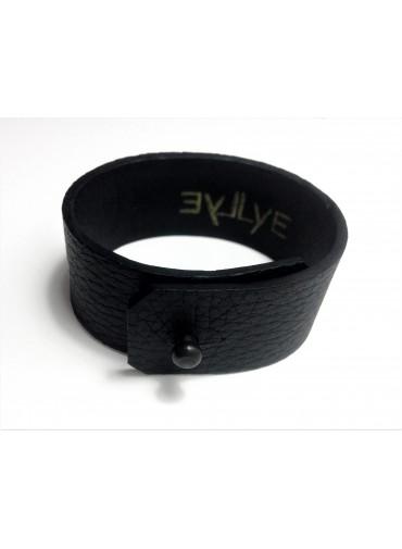 Deer leather bracelet 2.5cm - metal fastening