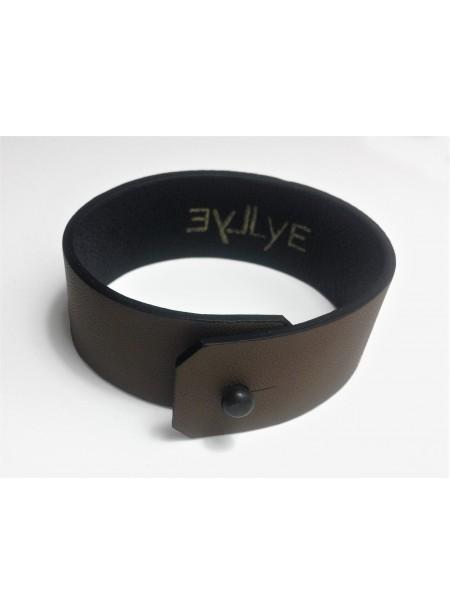 Bracelet Agneau Marron clair 2.5cm - fermeture métal