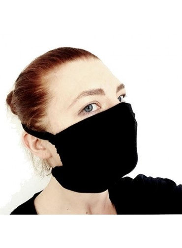 Transformable Mask - black jersey viscose