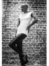 Top dos nu modulable - jersey viscose noir ou blanc