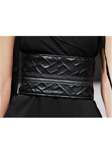 Strapped Belt in japanese style - imprint relief pattern
