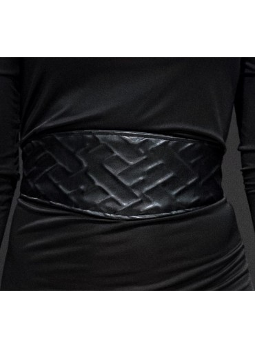 Oblong strapped Belt - imprint relief pattern