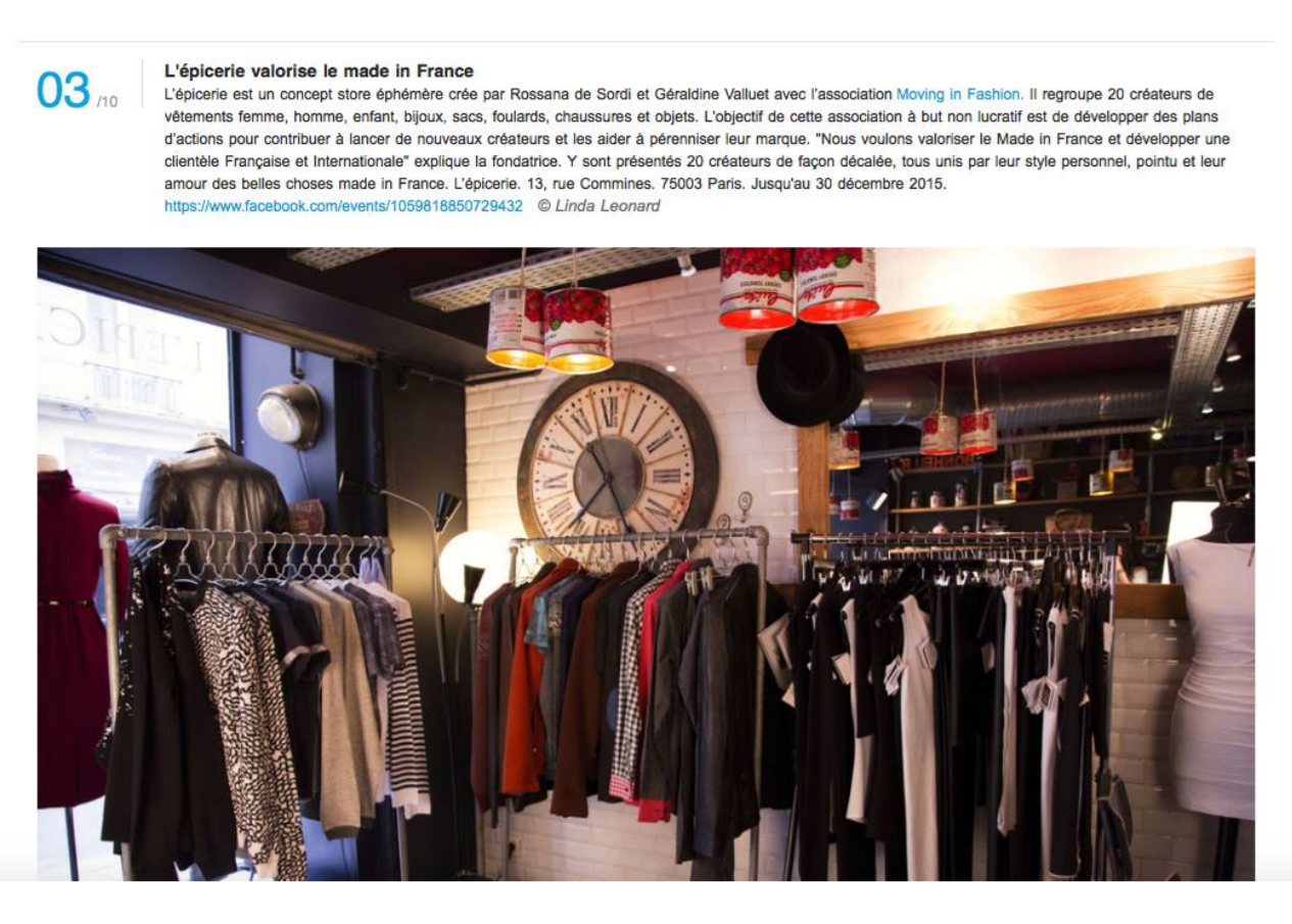 Pop-up store - article