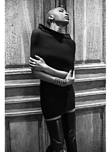 Robe tube modulable - jersey viscose noir