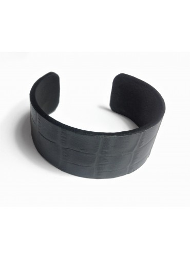 Bracelet Crocodile 2.5cm - support métal