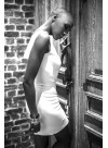 Transformable backless Dress - black or white jersey viscose
