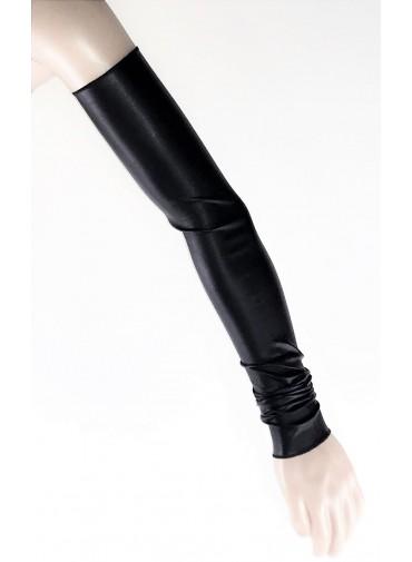 Indepedent sleeves- Black jersey viscose or coated viscose