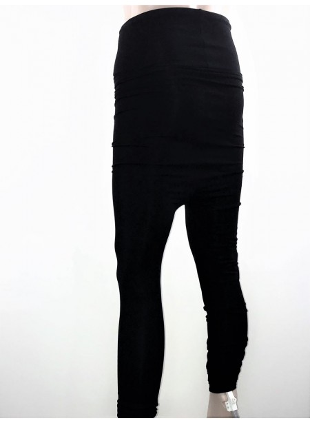 Sarouel modulable - jersey viscose ou enduit noir