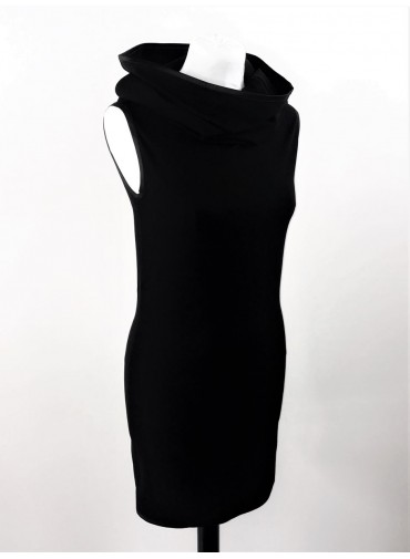 Transformable tubular Dress - black jersey viscose