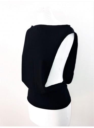 Transformable Tank-top - black jersey viscose