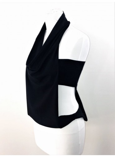 Transformable Bustier - open sides - black or white jersey viscose