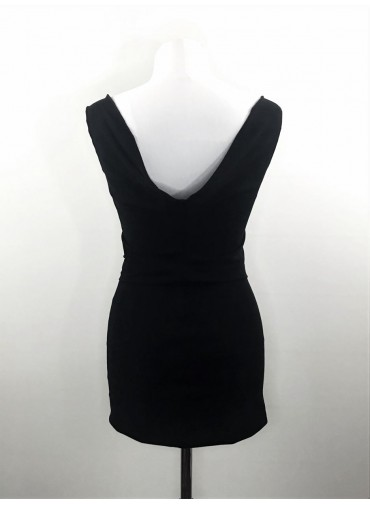 Transformable backless Top - black or white jersey viscose